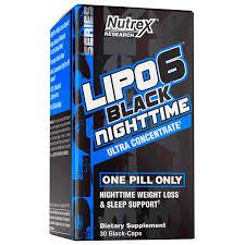 lipo 6 black nighttime 30 caps